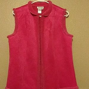 Coldwater Creek fake suede sweater vest